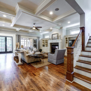 Peachtree Park - Family Room & Stairwell