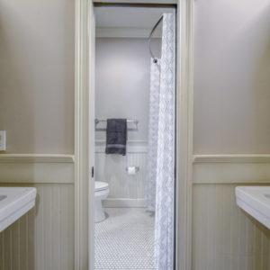 Peachtree Park - Guest Bathroom Pocket Door
